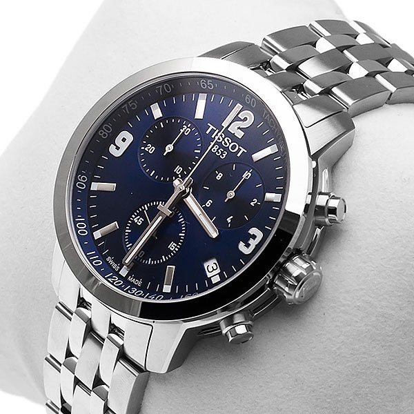 Tissot PRC 200 Men's Blue Dial Swiss Quartz Chronograph ...