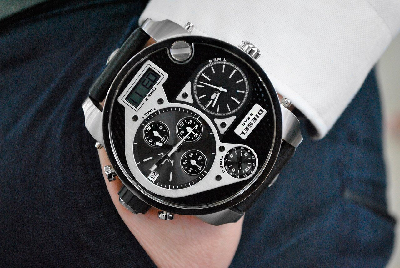 мужские наручные часы с большим циферблатом купить